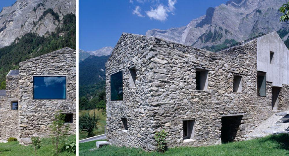 Integración entre rocas, Roduit House
