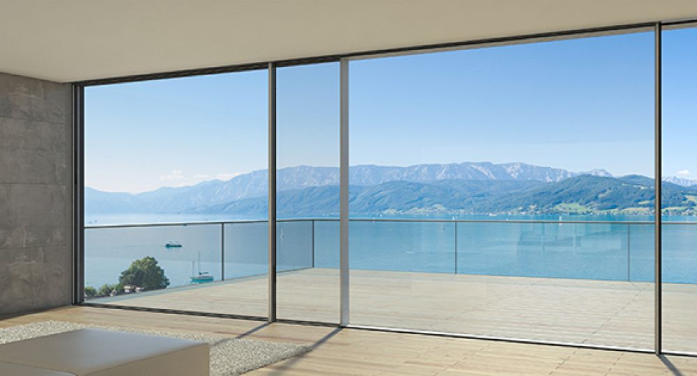 Puerta de aluminio con vidrio puerta aluminio y vidrio con for Marcos de ventanas de aluminio