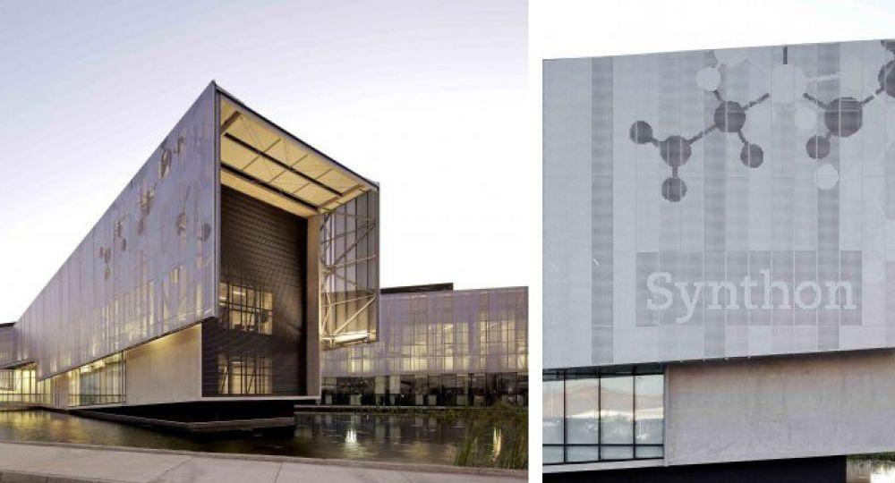 fachadas perforadas y screen panel synthon gha guillermo hevia
