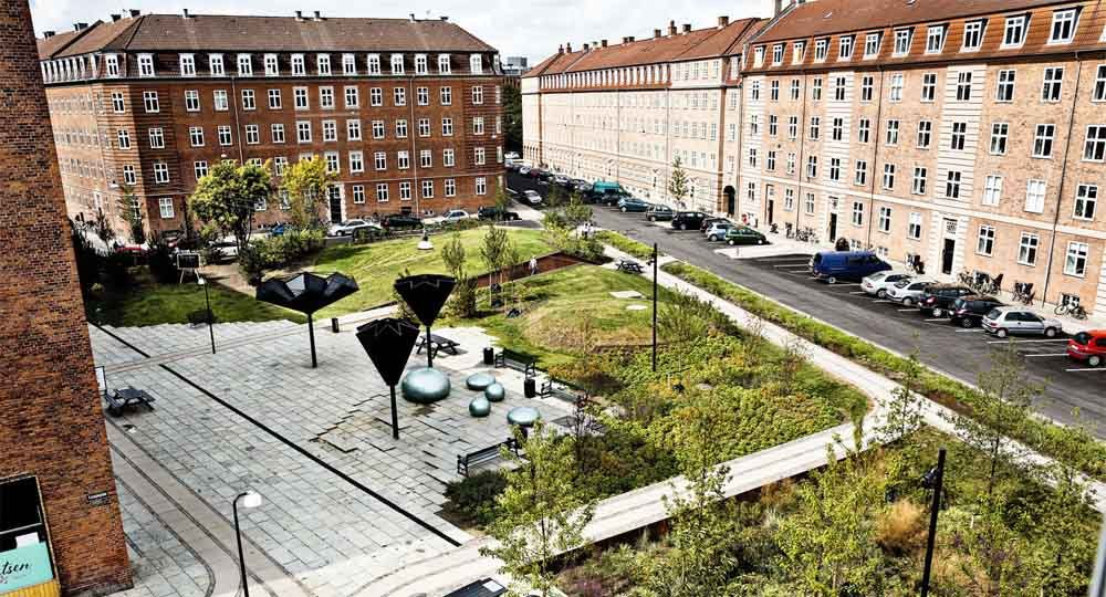 Taasinge Square. Copenhague