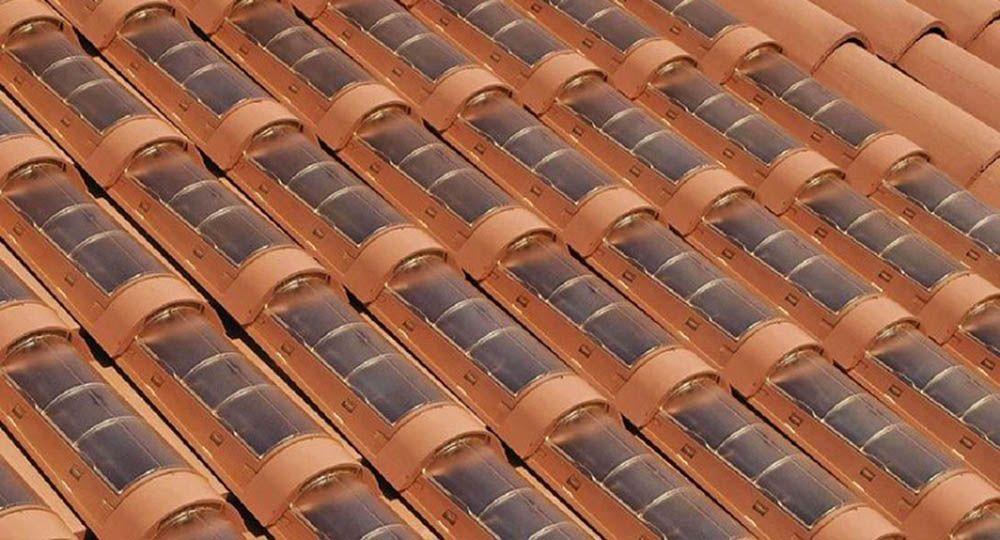 Tejas solares: nuevas tecnologías en los materiales de construcción.