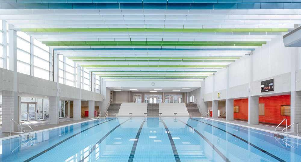 Restauración de la piscina municipal de Gotha, por Veauthier Meyer Architekten