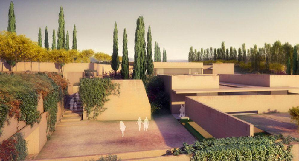 Arquitectos Alvaro Siza y Juan Domingo Santos:       Atrio de la Alhambra