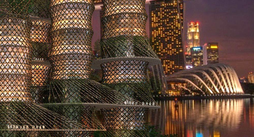 Torre de Bambú, una ciudad sostenible en altura