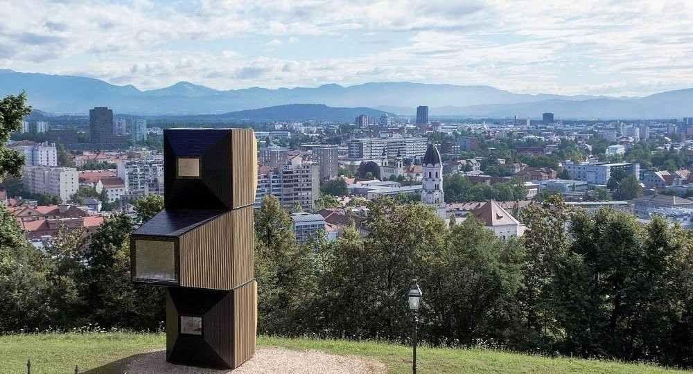 Sistema modular para habitar Living unit, de OFIS Arhitekti