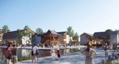 Xiangyang Overseas Chinese Joy Town: Inmersión cultural a través de la arquitectura