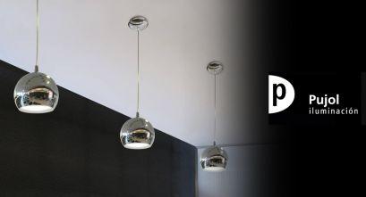Luminaria de suspensión BOLA de Pujol Iluminación: geometría, durabilidad y diseño