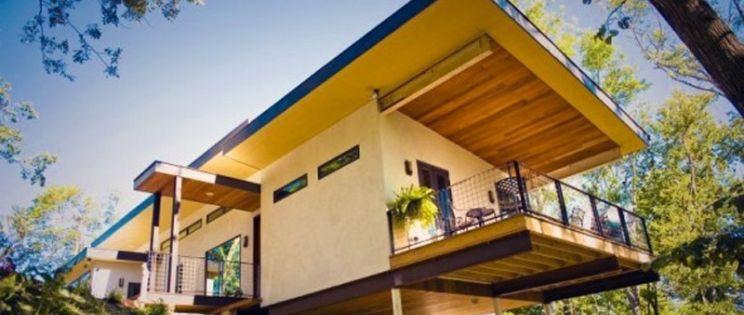 Casas realizadas con  paneles y ladrillos fabricados a base de c��amo de planta de cannabis