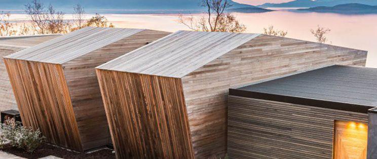 Arquitectura y paisaje en un retiro de Snorre Stinessen en Malangen, Noruega.
