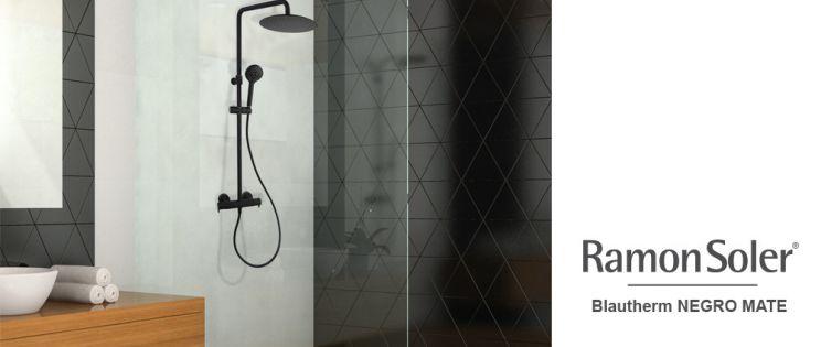 Columnas de ducha negro mate  Blautherm de Ramon Soler: diseño y calidad