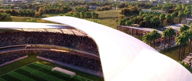 Estadio de futbol de David Beckham en Miami. Estudio Arquitectonica