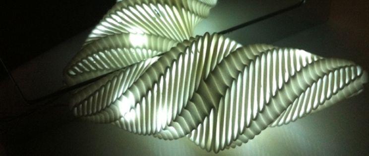 La lámpara que trasforma en luz el movimiento.