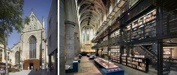 De Iglesia a Librería: librería Selexyz Dominicanen, Maastricht.