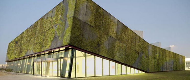 """Nuevo concepto de fachada verde: el """"hormigón biológico"""" como el futuro de las fachadas ecológicas."""