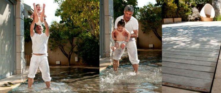 El suelo que se transforma en piscina