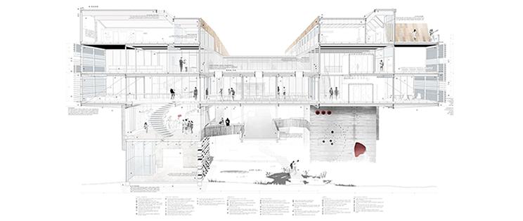 Infraestructura de condensador social en nyc ciudad for Carreras de arquitectura