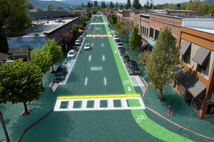 Carretera Solar Led Señalización