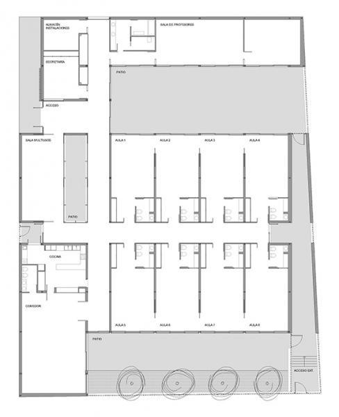 Centro educaci n infantil en moncada valencia arquitectura for Plano aula educacion infantil